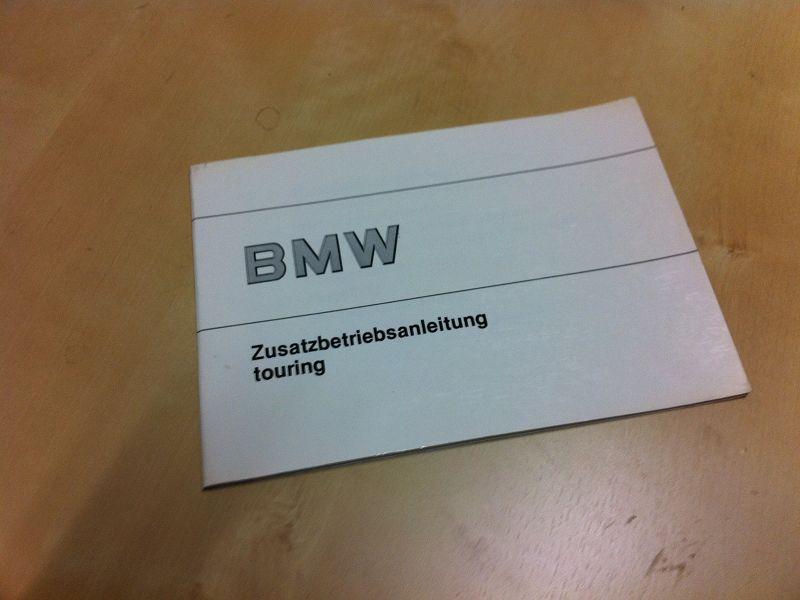 Zusatzbetriebsanleitung Touring 1988